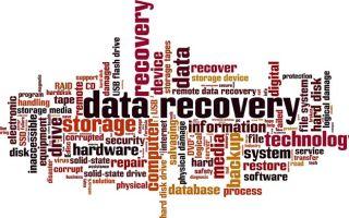 Восстановление утерянных данных с жесткого диска