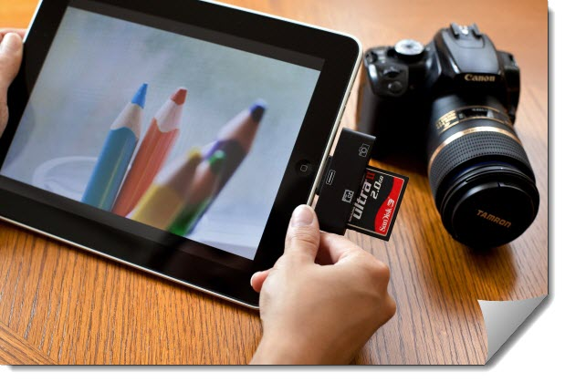 планшет фотоаппарат и карта памяти