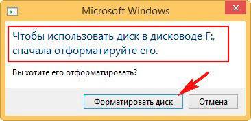 запрос windows на форматирование