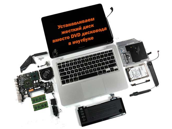 HDD, SSD вместо дисковода в ноутбуке