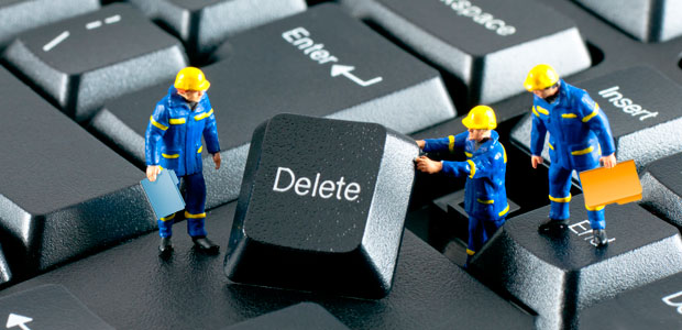 удаляем не удаляемый файл